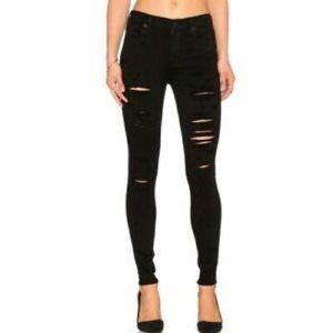 Agolde Sophie black hi-rise skinny jeans sz. 24